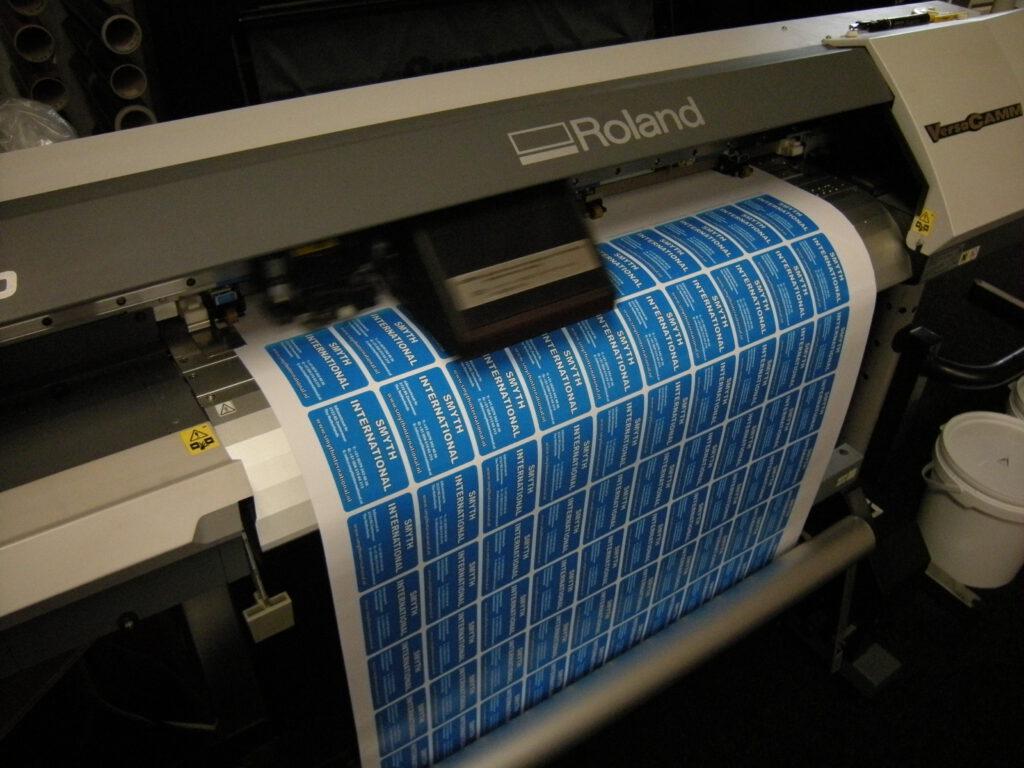 Stickers worden geprint